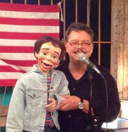 San Antonio Ventriloquist David Pitts entertains with his partner Henry Little at Comedy Open Mic