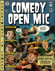 Flyer for Crossroads BBQ Comedy Open Mic Night