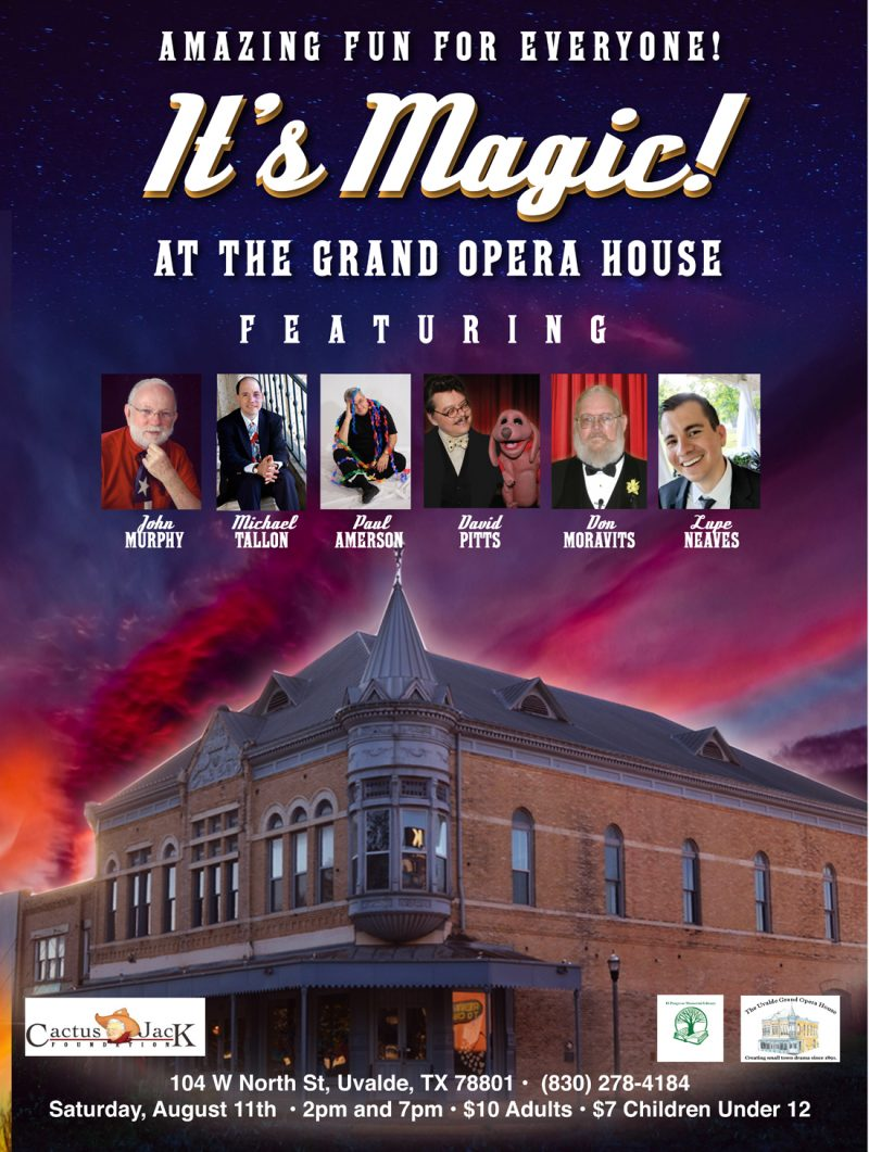 Magic and Ventriloquism at The Uvalde Grand Opera House