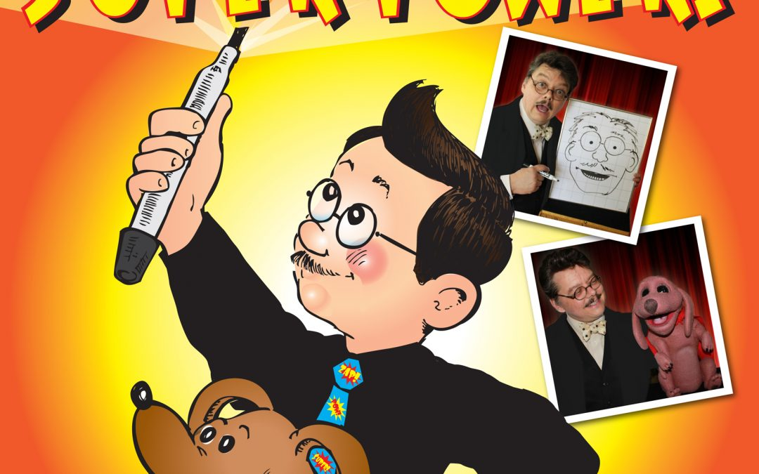 Imagination Is A Super Power! – Virtual Library Magic Puppet and Cartooning Show