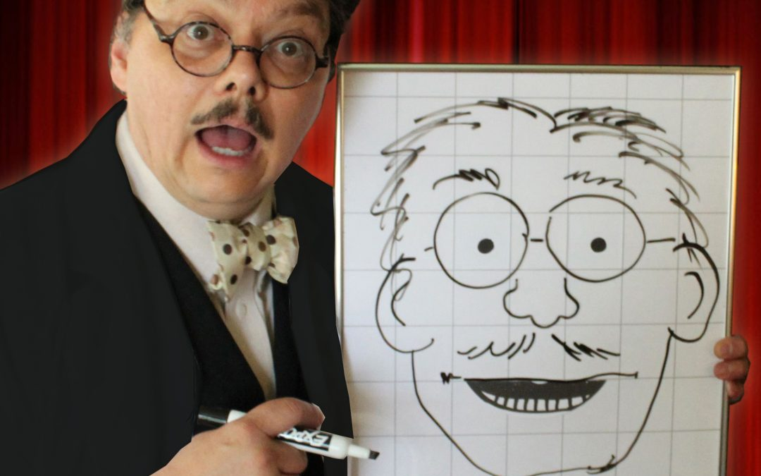 The Astonishing Mr. Pitts and the World of Reading – Library Magic Puppet and Cartooning Zoom Show